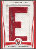 "2009 Bowman Draft #KM Knowshon Moreno Rookie College Letter ""E"" Patch Auto #01/13"