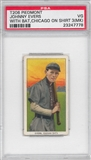 1909-11 T206 Piedmont Johnny Evers With Bat Chicago On Shirt PSA 3 MK (VG) *7778