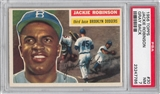 1956 Topps Baseball #30 Jackie Robinson Gray Back PSA 7 (NM) *7786