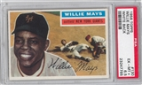 1956 Topps Baseball #130 Willie Mays White Back PSA 6.5 (EX-MT+) *7785
