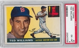 1955 Topps Baseball #2 Ted Williams PSA 6 (EX-MT) *7758