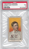 1909-11 T206 Sweet Corporal Christy Mathewson Portrait PSA 3 (VG) *2329