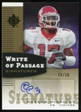 2007 Upper Deck Ultimate Collection Write of Passage Signatures Gold #WPMM Marcus McCauley Autograph /50