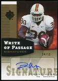 2007 Upper Deck Ultimate Collection Write of Passage Signatures Gold #WPTM Tyrone Moss Autograph /50