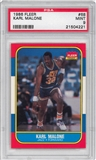 1986/87 Fleer Basketball #68 Karl Malone Rookie PSA 9 (MINT) *4221