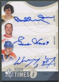 2010/11 SP Authentic #ST6OHG Wayne Gretzky Gordie Howe Bobby Orr Sign of the Times Sixes Auto #7/7