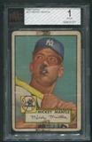 1952 Topps Baseball #311 Mickey Mantle Rookie BVG 1 (POOR) *7577