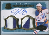 2013-14 The Cup #EEJS Justin Schultz Emblems of Endorsement Rookie Patch Auto #10/15