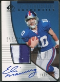 2004 SP Authentic #216 Eli Manning Rookie Patch Auto #187/299