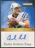2012 Gridiron #1 Andrew Luck Rookie Gridiron Kings Auto #90/99