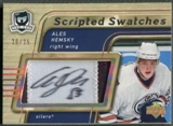 2005/06 The Cup #SSAH Ales Hemsky Scripted Swatches Patch Auto #20/25