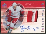 2005/06 SP Authentic #154 Johan Franzen Limited Rookie Patch Auto #017/100