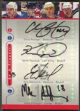 2005/06 Be A Player #BLUE Chris Pronger Keith Tkachuk Eric Weinrich Mike Sillinger Quad Auto
