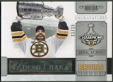 2011/12 Dominion #1 Zdeno Chara Engravatures Bruins 2011 Tribute #11/15