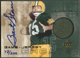 2000 Upper Deck #GJGBS2 Bart Starr Game Jersey Greats Auto #078/200