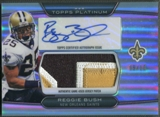 2010 Topps Platinum #RB Reggie Bush Jumbo Patch Auto #09/10
