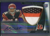 2011 Topps Platinum #132 Andy Dalton Purple Refractor Rookie Patch Auto #15/25