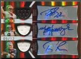 2009 Topps Triple Threads #9 Drew Brees Matt Hasselbeck Tony Romo Jersey Auto #09/12