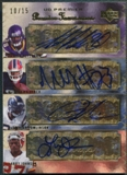2007 Premier #2 Larry Johnson LaDainian Tomlinson Adrian Peterson Marshawn Lynch Foursomes Auto #10/15