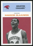 2011/12 Upper Deck Fleer Retro 1961-62 #HO2 Hakeem Olajuwon Dark Red