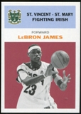 2011/12 Upper Deck Fleer Retro 1961-62 #LJ2 LeBron James Dark Red