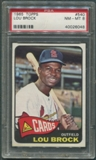 1965 Topps Baseball #540 Lou Brock PSA 8 (NM-MT) *6048