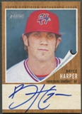 2011 Topps Heritage Minors #BH Bryce Harper Real One Rookie Auto #130/154