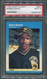 1987 Fleer Baseball #604 Barry Bonds Rookie PSA 9 (MINT) *3180