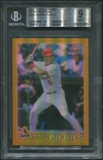 2001 Topps Chrome #596 Albert Pujols Rookie Retrofractor BGS 9 (MINT) *7965
