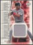 2001 Upper Deck Pros and Prospects #137 Albert Pujols Rookie Jersey #265/500