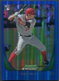 2011 Bowman Chrome Draft #101 Mike Trout Blue Refractor Rookie #089/199