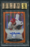2013 Bowman Chrome #SM Shelby Miller Rookie Orange Refractor Auto #09/25 BGS 9.5 (GEM MINT) *1777
