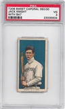 1909-11 T206 Sweet Caporal Jack Knight (With Bat) PSA 3 (VG) *5634