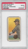 1909-11 T206 Polar Bear Jake Pfeister (Throwing) PSA 2 (GOOD) *5637