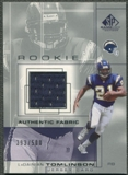 2001 SP Game Used Edition #96 LaDainian Tomlinson Rookie Jersey #393/500