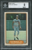 1982 Fleer Baseball #176 Cal Ripken Jr. Rookie BGS 8 (NM-MT) *5835
