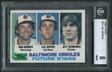 1982 Topps Baseball #21 Cal Ripken Jr. Rookie BGS 8 (NM-MT) *5474