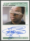 2013 Star Trek The Next Generation Heroes and Villains #24 LeVar Burton as Lt. Commander Geordi La Forge Auto