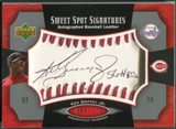 2005 Sweet Spot #KG Ken Griffey Jr. Signatures Red Stitch Black Ink Auto #004/175