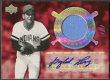 2005 Upper Deck Hall of Fame #GP1 Gaylord Perry Cooperstown Calling Rainbow Jersey Auto #1/1