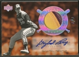 2005 Upper Deck Hall of Fame #GP2 Gaylord Perry Cooperstown Calling Rainbow Patch Auto #1/1