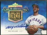 2005 Upper Deck Hall of Fame #BW2 Billy Williams Class of Cooperstown Rainbow Bat Auto #1/1