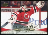 2011/12 Upper Deck Exclusives #87 Martin Brodeur /100