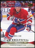 2011/12 Upper Deck Exclusives #100 Andrei Kostitsyn /100