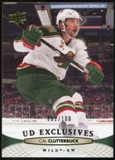 2011/12 Upper Deck Exclusives #107 Cal Clutterbuck /100