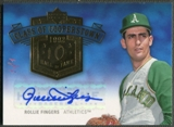 2005 Upper Deck Hall of Fame #RF1 Rollie Fingers Class of Cooperstown Rainbow Auto #1/1