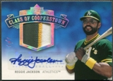 2005 Upper Deck Hall of Fame #RJ1 Reggie Jackson Class of Cooperstown Rainbow Patch Auto #1/1