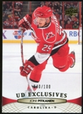2011/12 Upper Deck Exclusives #172 Joni Pitkanen /100