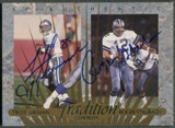 1997 SP Authentic #TD2 Troy Aikman & Roger Staubach Traditions Auto