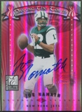 2001 Donruss Elite #PT24 Joe Namath & Chad Pennington Passing the Torch Auto #21/50